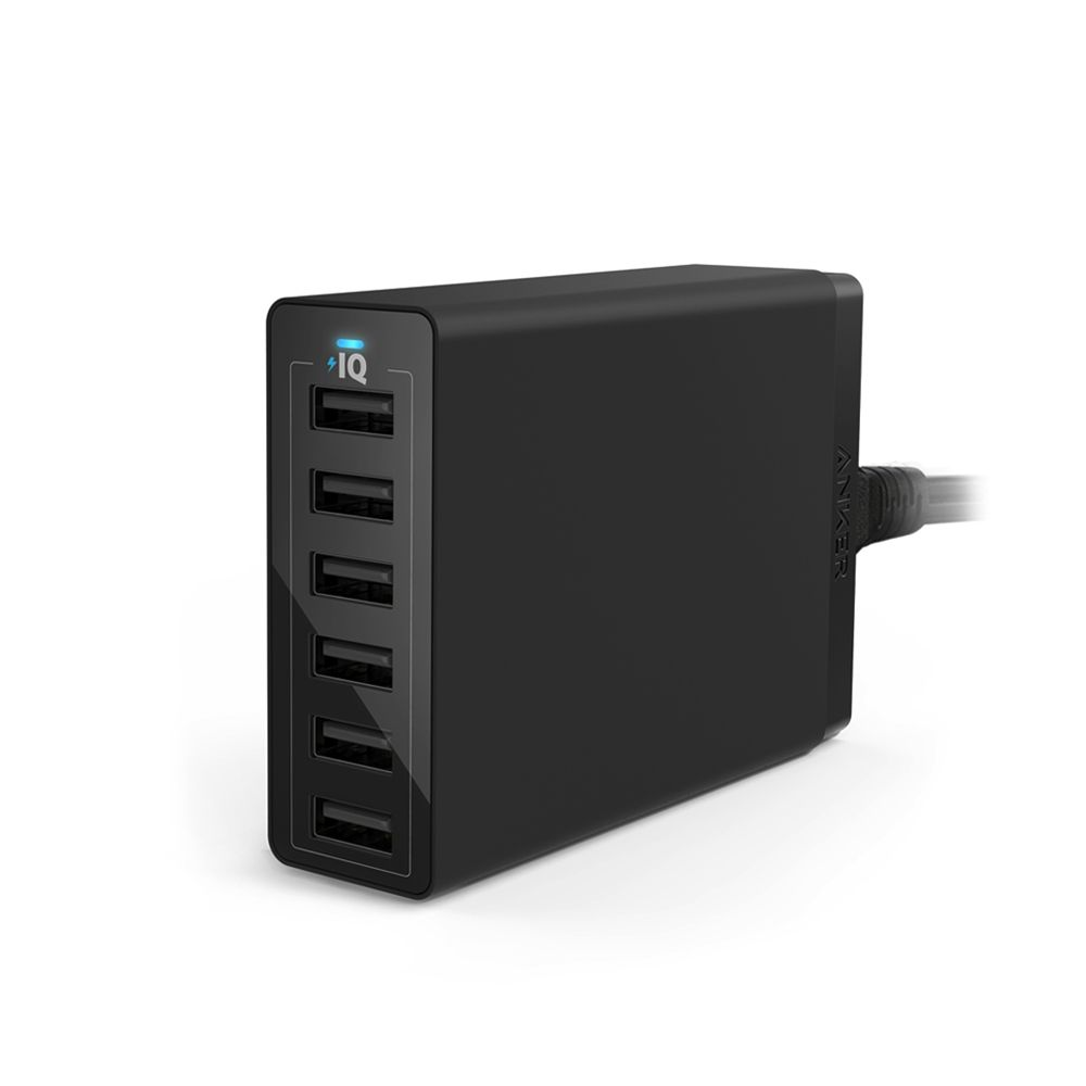 Image of Anker PowerPort 6, Sort